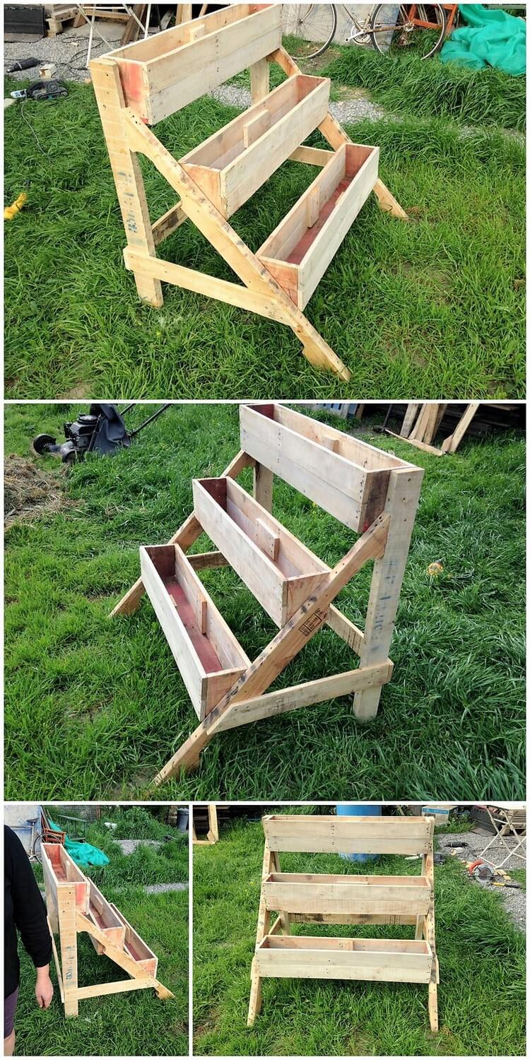 Pallet Planter Stand (2)