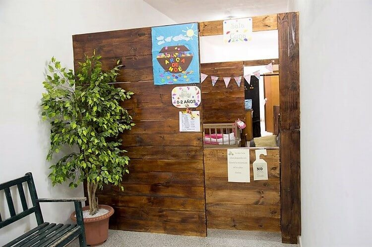 Pallet Room Divider with Door