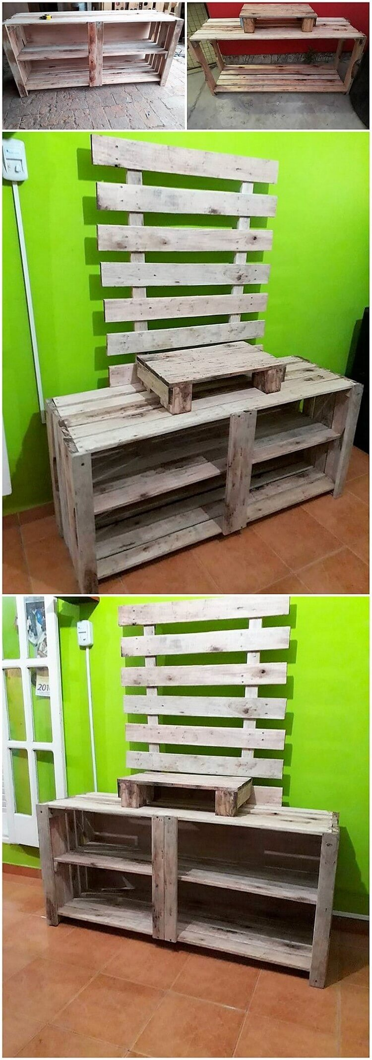 Pallet TV Stand or Media Table (2)
