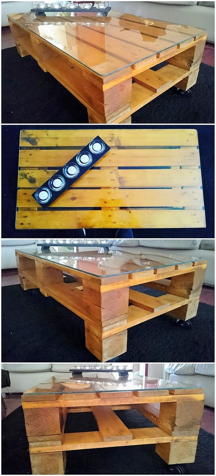 Pallet Table with Glass Top (2)