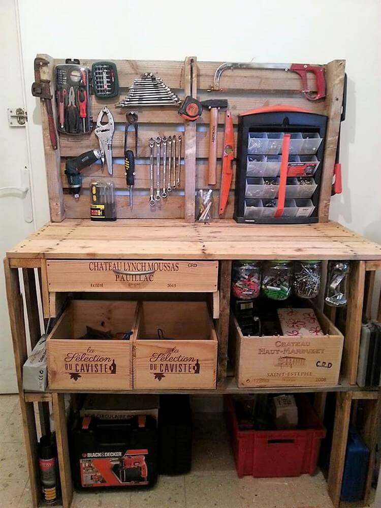 Diy Pallet Tool Rack Plan Pallet Wood Projects