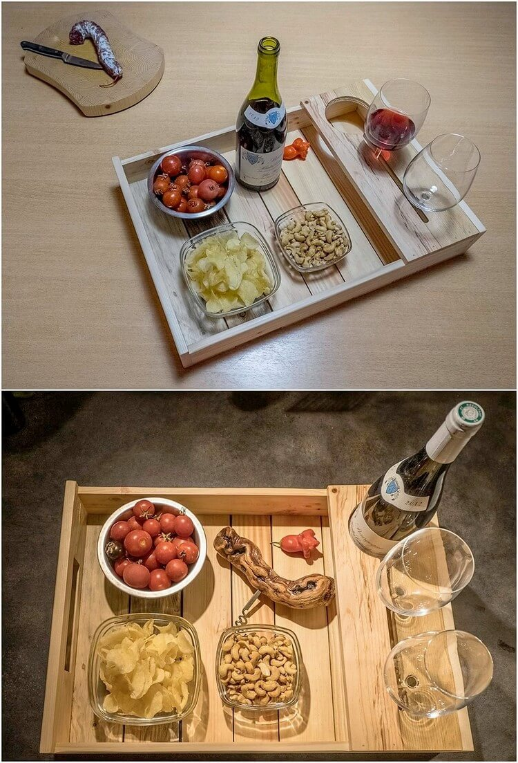 Pallet Tray with Glass Holders