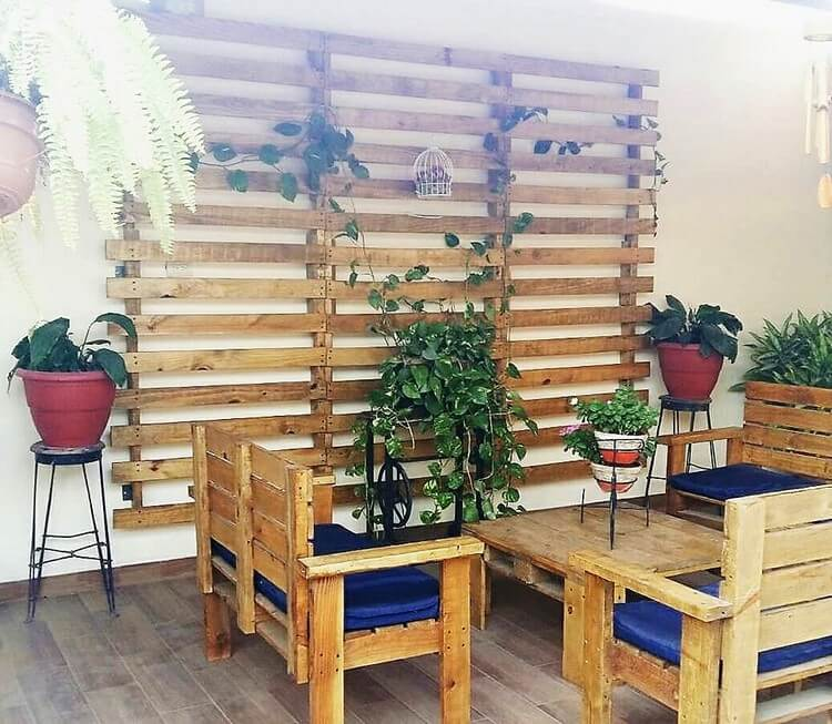 Pallet Wall Decor and Furniture Set