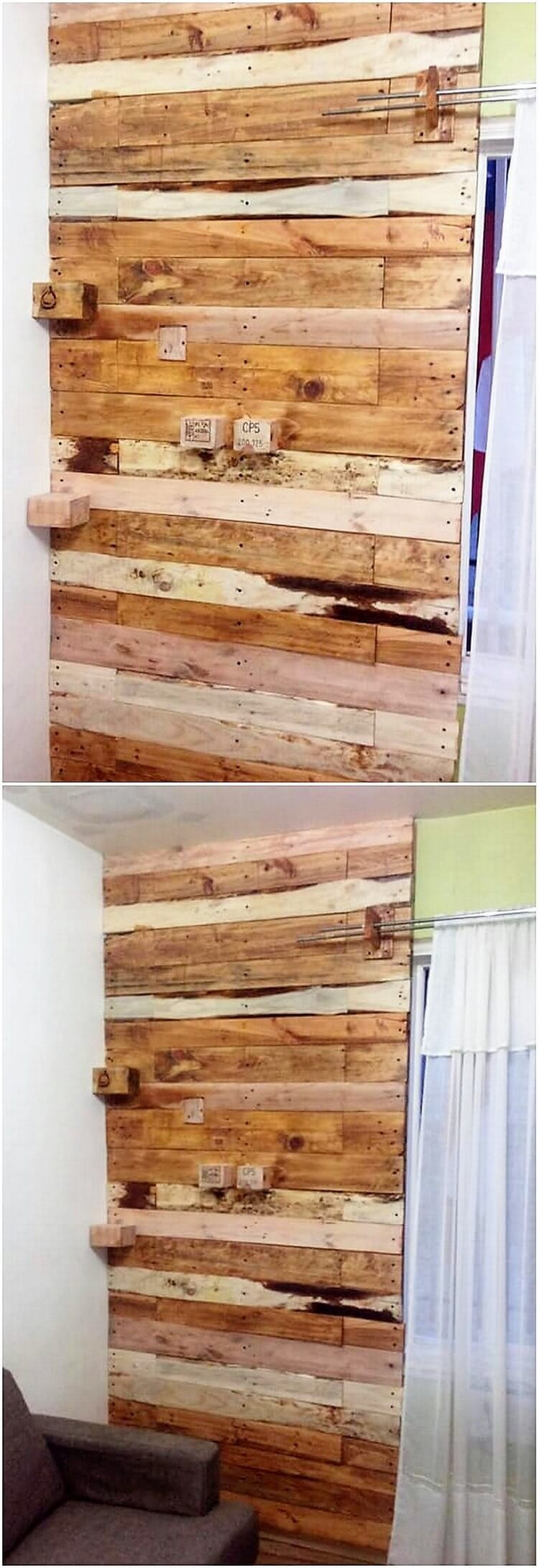 Pallet Wall Paneling : Creative wood pallet projects you can do it yourself