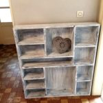 Pallet Wall Shelving Unit
