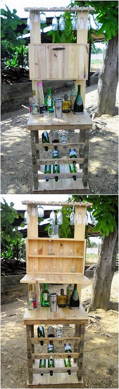 Pallet Wine Rack Stand
