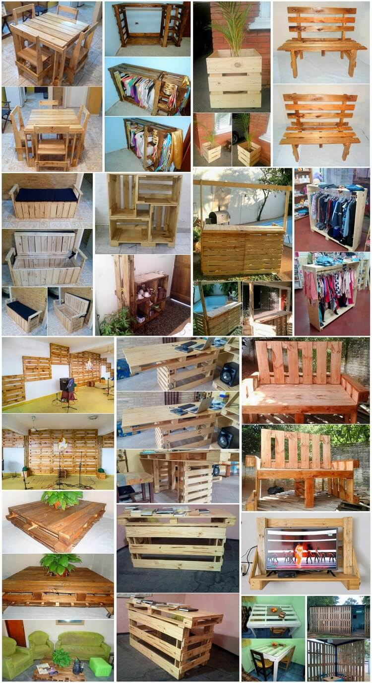 Perfect Ideas to Convert Old Wood Pallets into Awesome Furniture