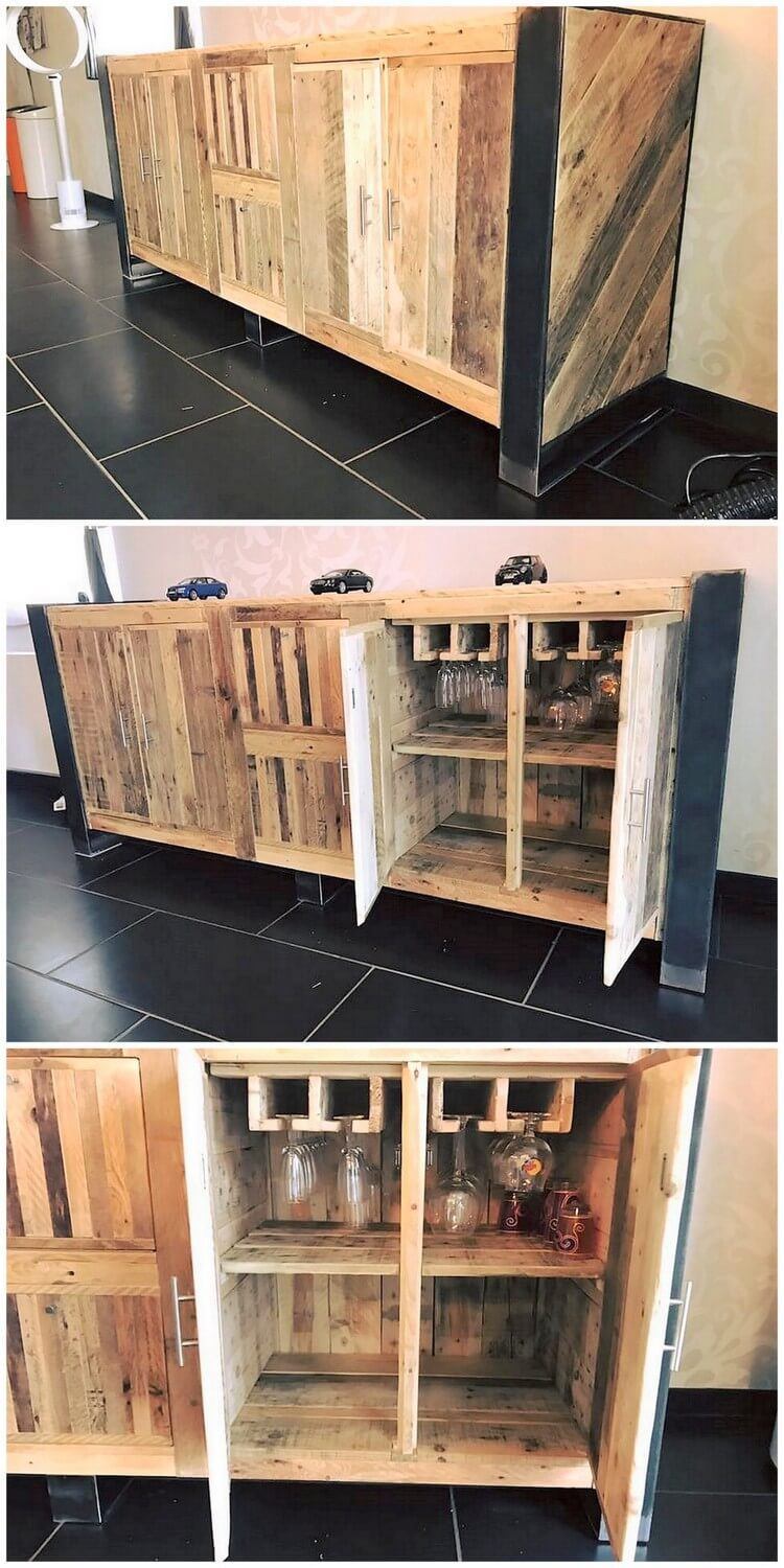 Recycled Old Wood Pallet Entryway Table
