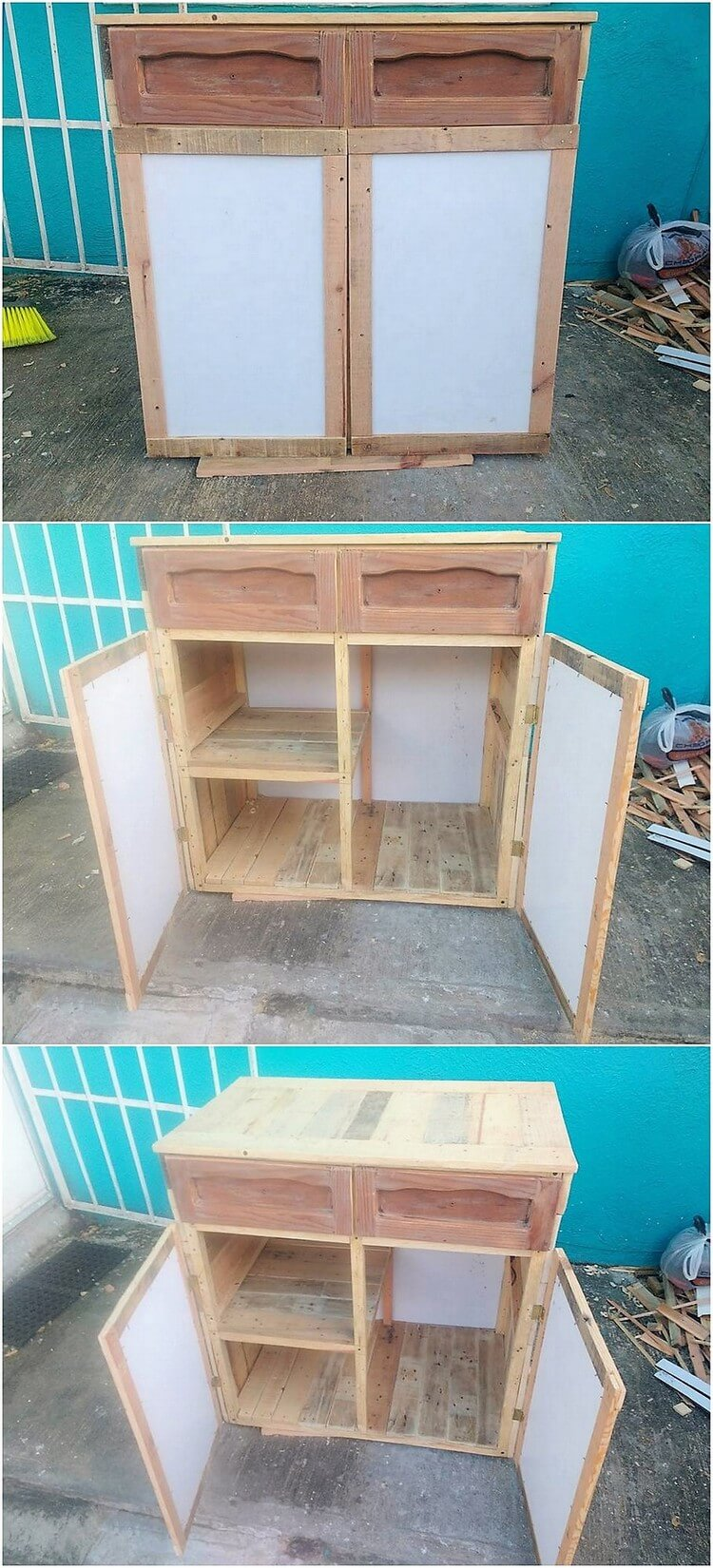 Recycled Pallet Cabinet (2)