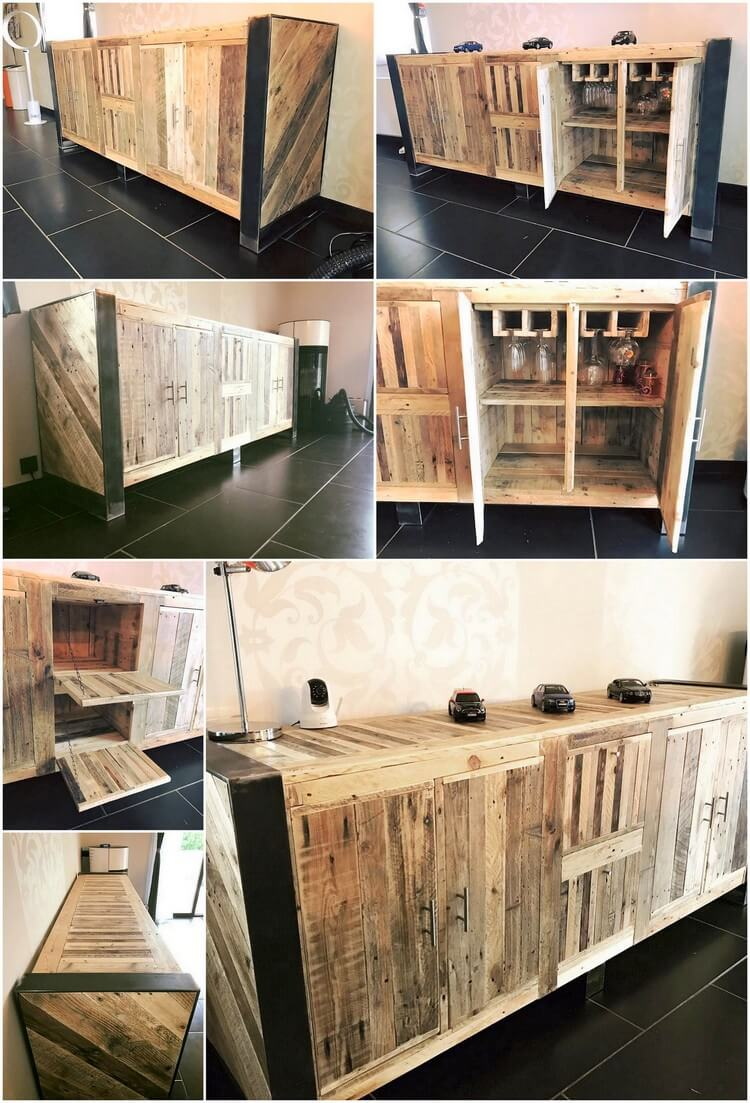 Recycled Wood Pallet Entryway Table
