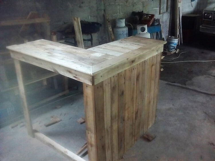Upcycled Pallet Counter Table