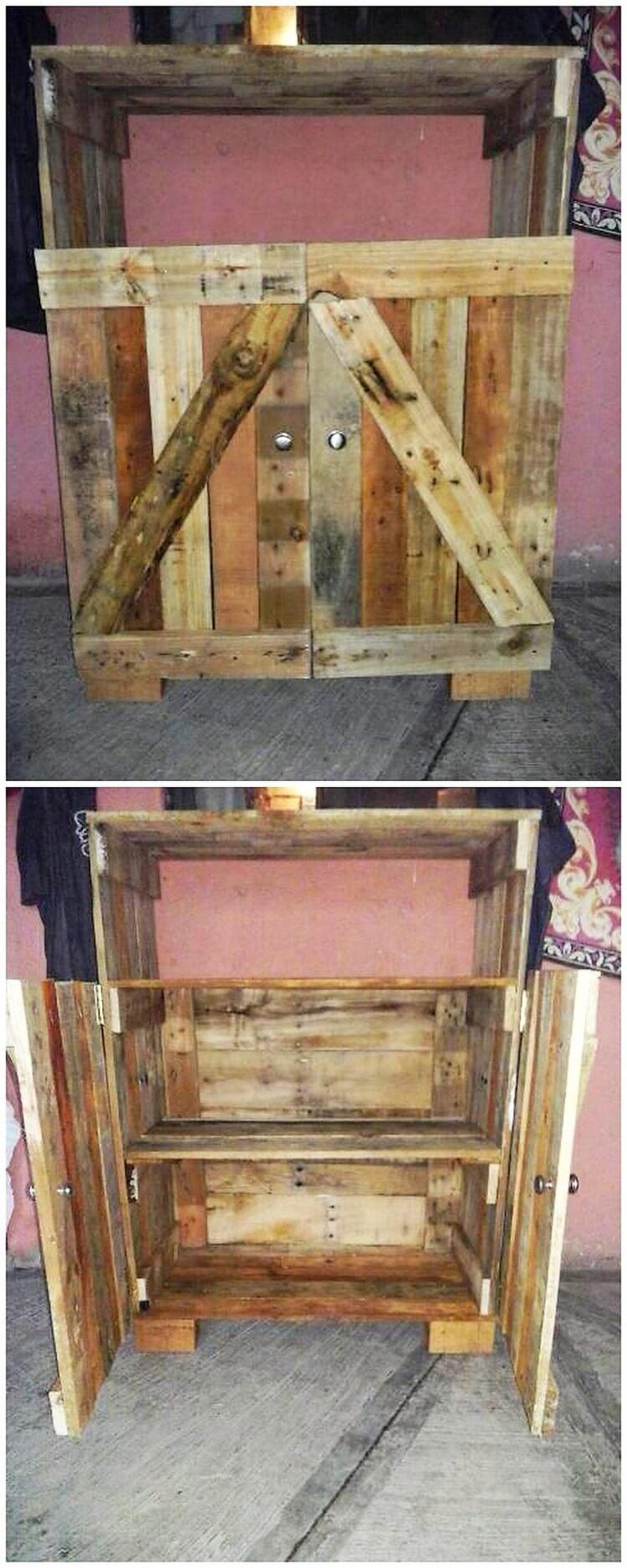Wood Pallet Cabinet (2)