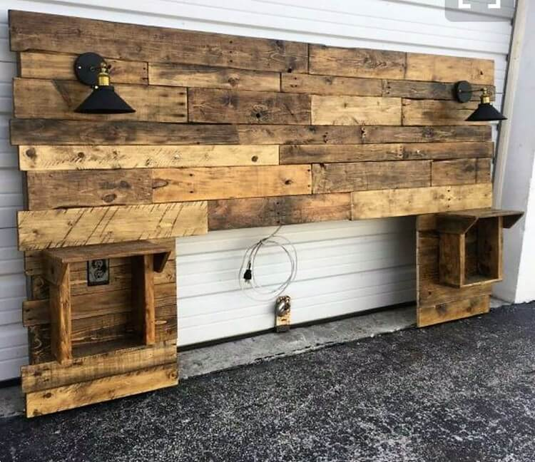 Wood Pallet Giant Headboard