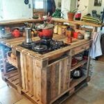 Wooden Pallet Kitchen Island