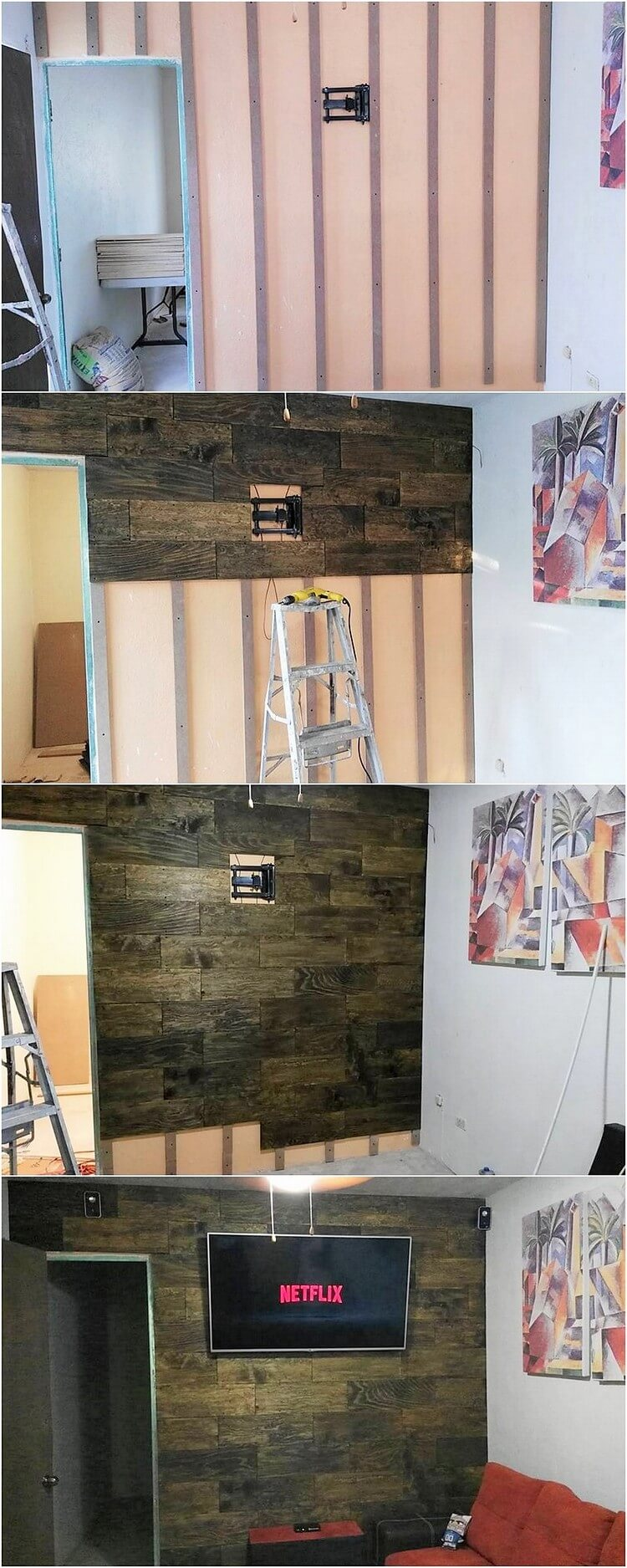 Diy Pallet Bathroom Wall Paneling: Excellent DIY Shipping Pallet Ideas To Tryout This Weekend