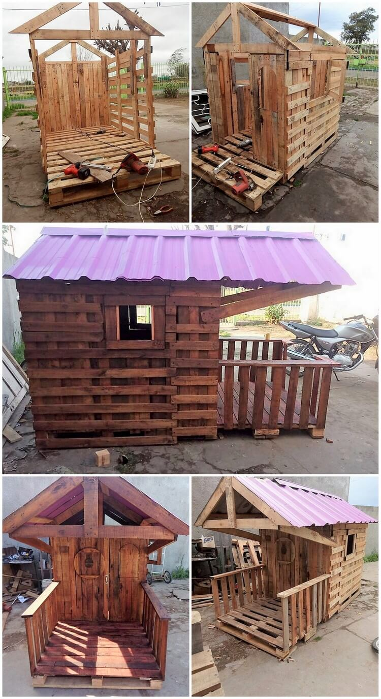 How to Build a Pallet Playhouse - 8 Easy Steps Tutorial
