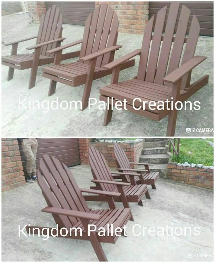 Pallet Adirondack Chairs (2)