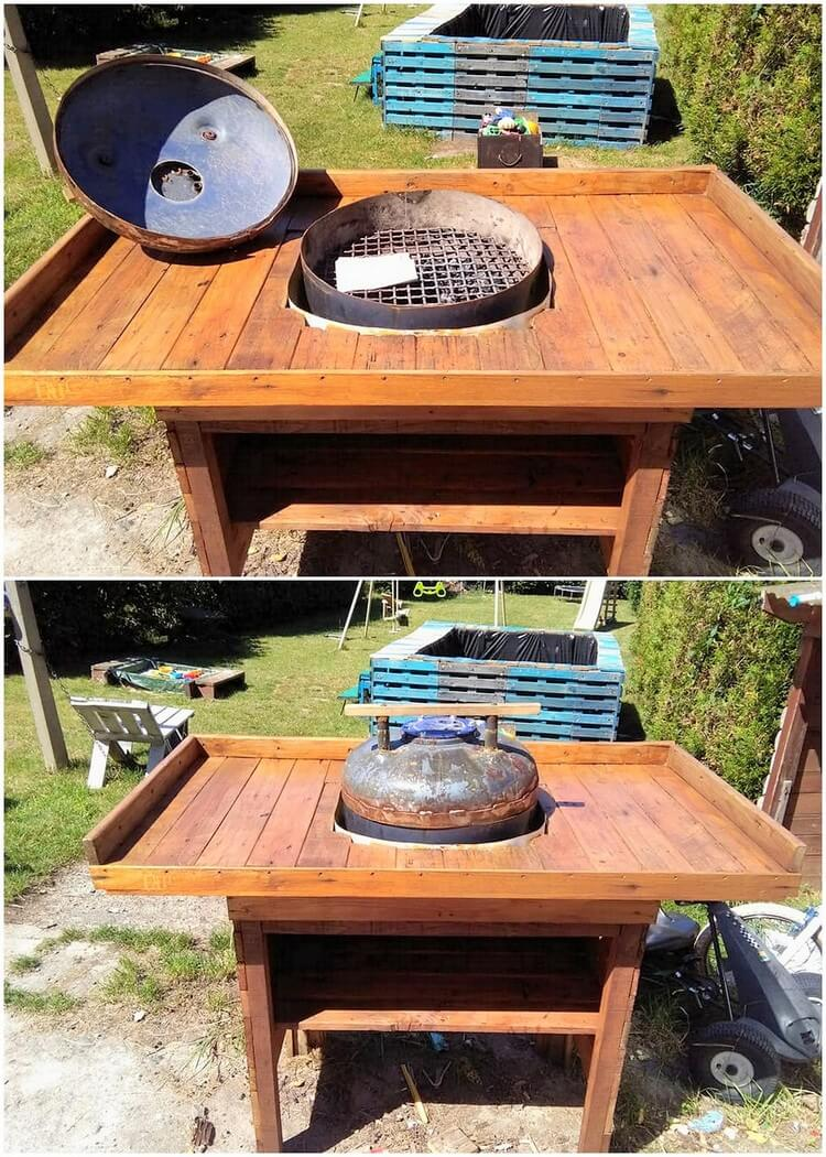Pallet BBQ Grill Table