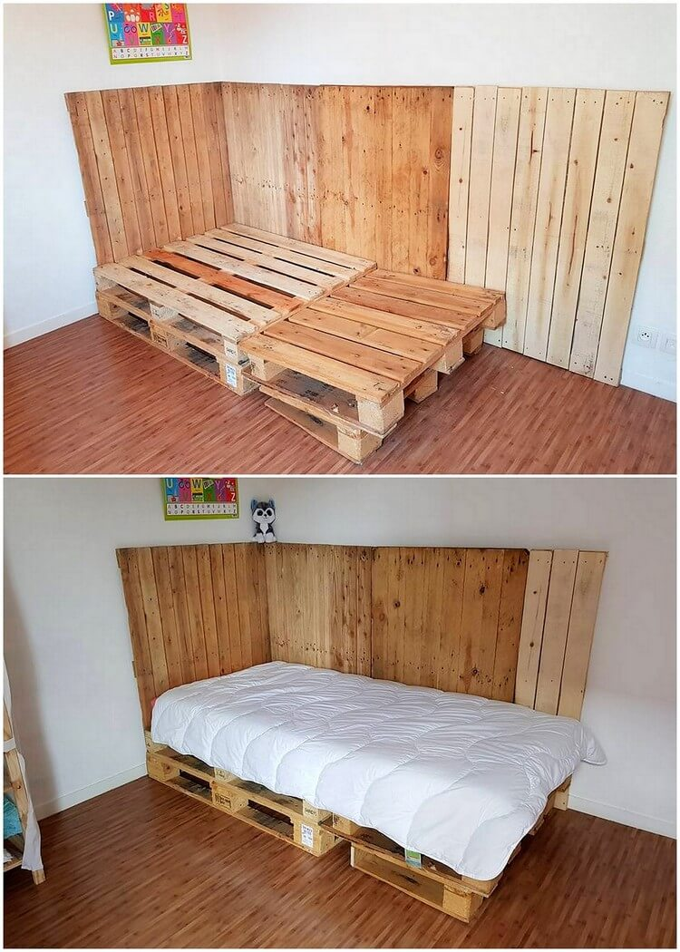 Pallet Bed and Wall Paneling