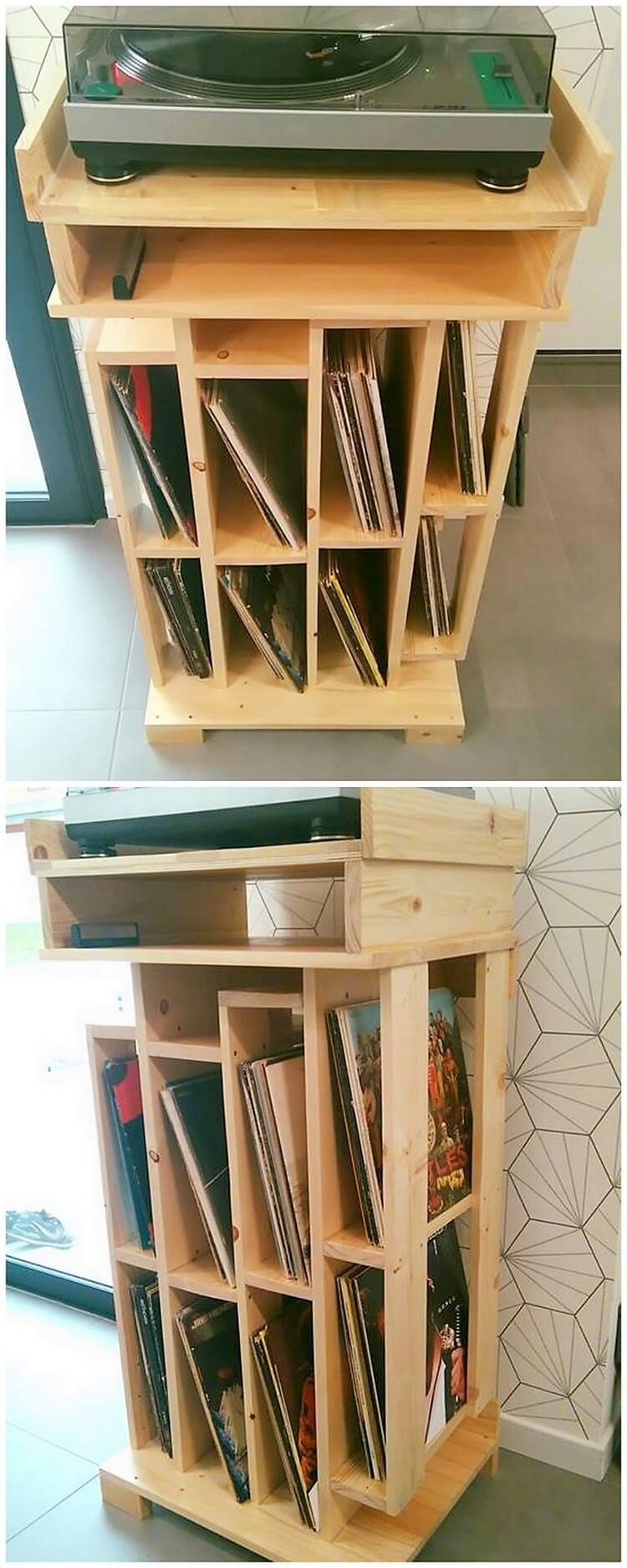 Pallet Books Shelving Unit (2)