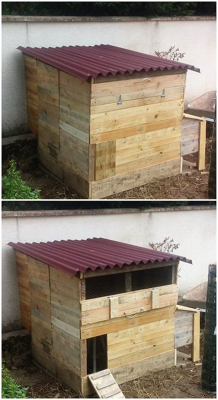 Awesome diy projects with old shipping wooden pallets Chicken coop from pallet wood