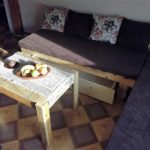 Pallet Couch with Drawer and Table