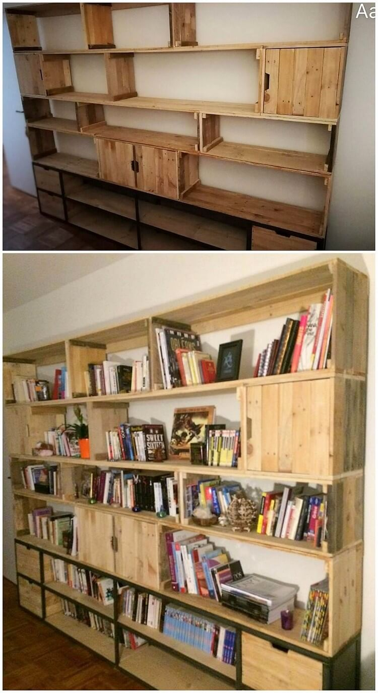 Pallet Cupboard or Bookshelf