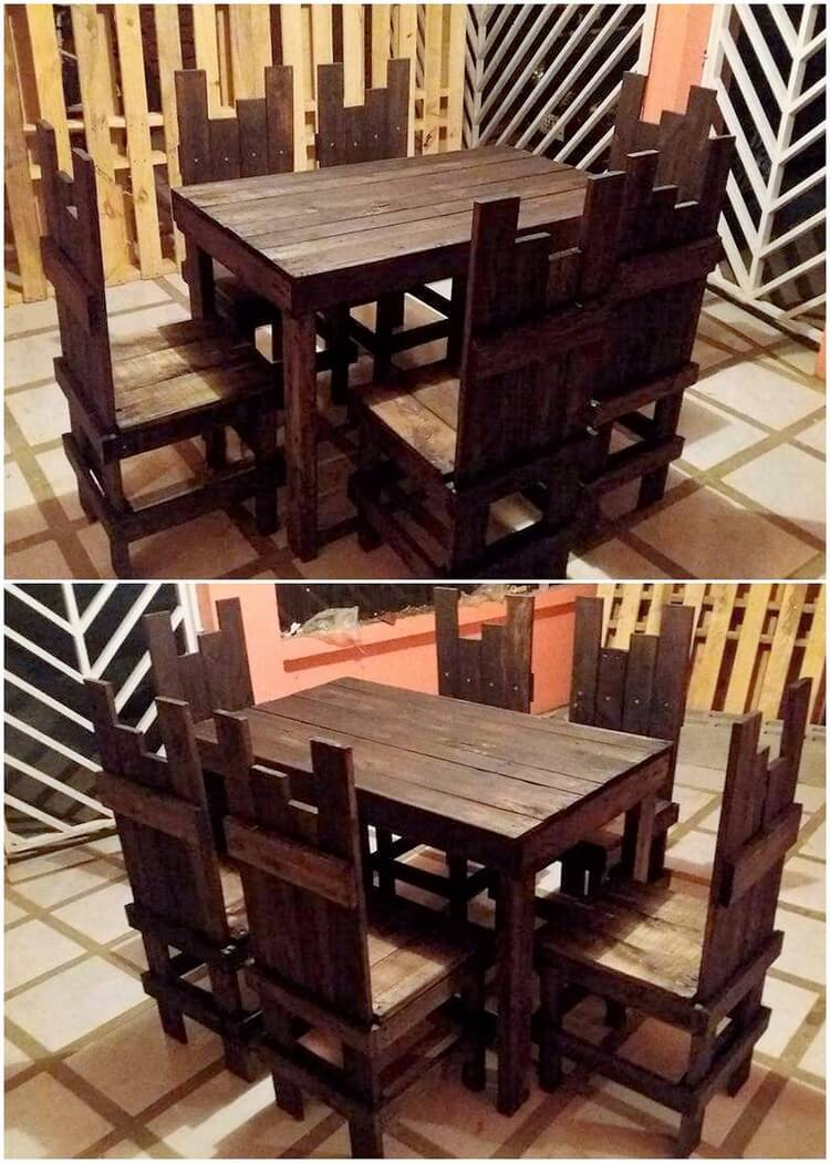Pallet Dining Furniture Set (2)