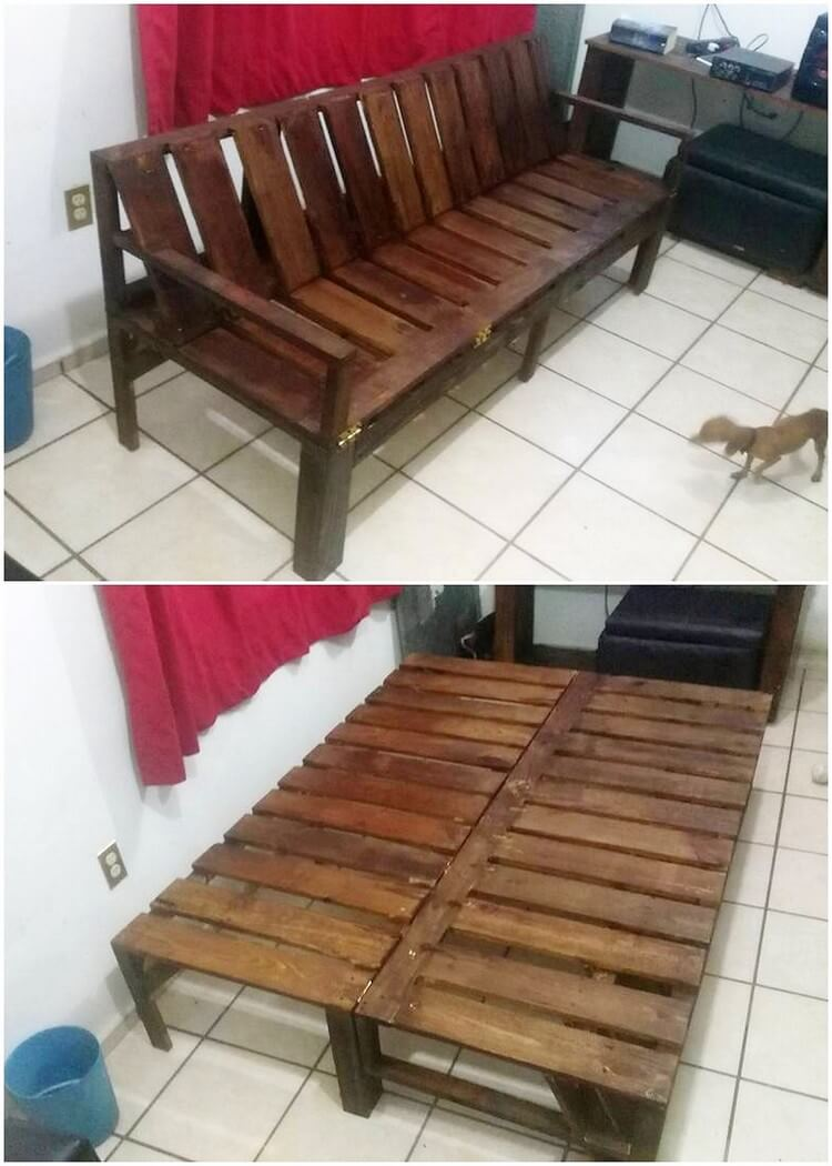 Pallet Folding Bench or Daybed