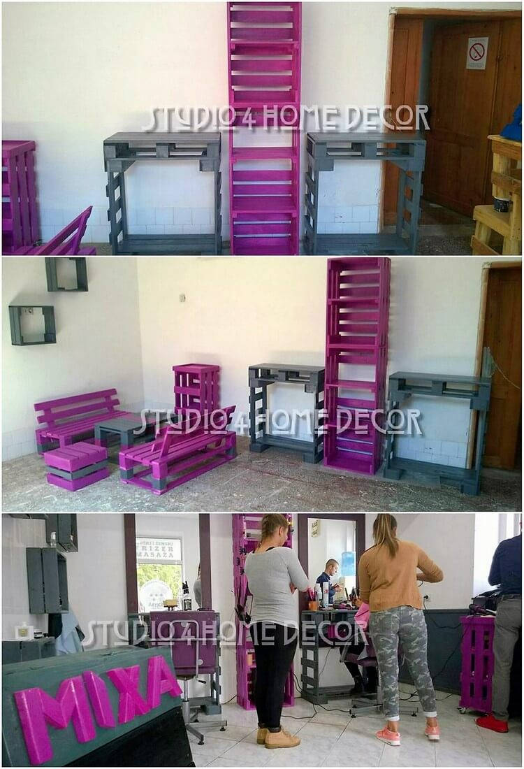 Pallet Furniture for Saloon