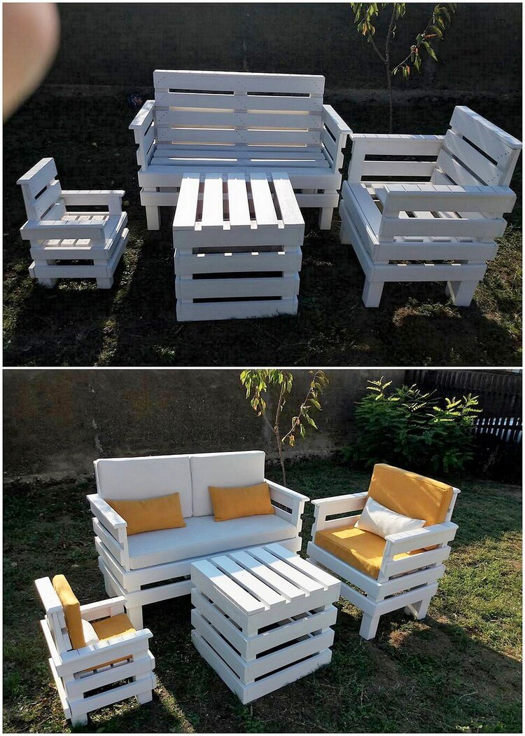 Pallet Garden Couch Set and Table (2)