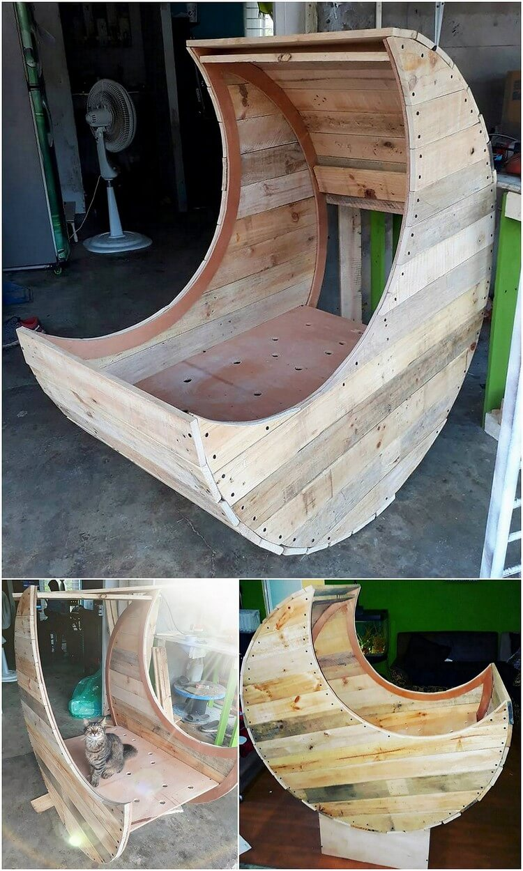 Pallet Half Moon Cradle Chair