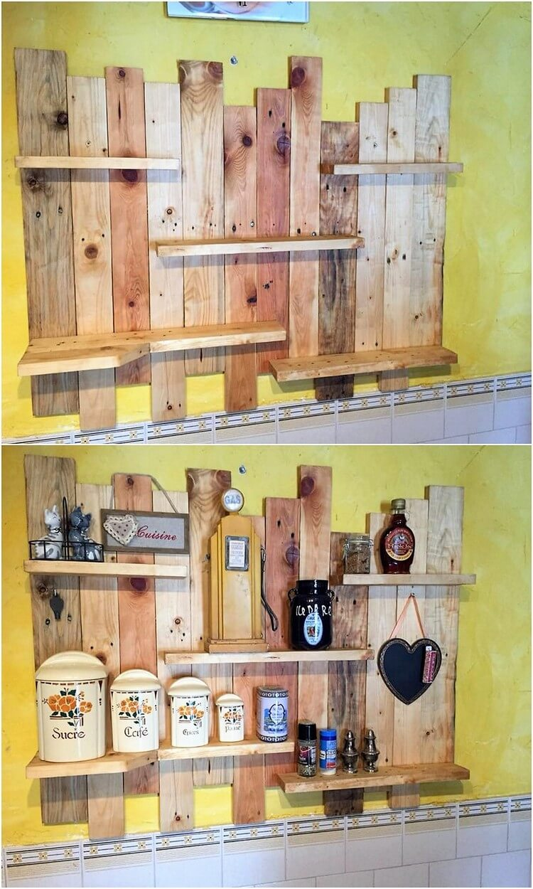 Pallet-Kitchen-Wall-Shelf Pallet Shelf Kitchen Ideas on pallet table ideas, pallet kitchen countertop ideas, pallet shelves ideas, pallet kitchen bar ideas, pallet interior ideas, pallet home decor ideas, pallet kitchen wall ideas,