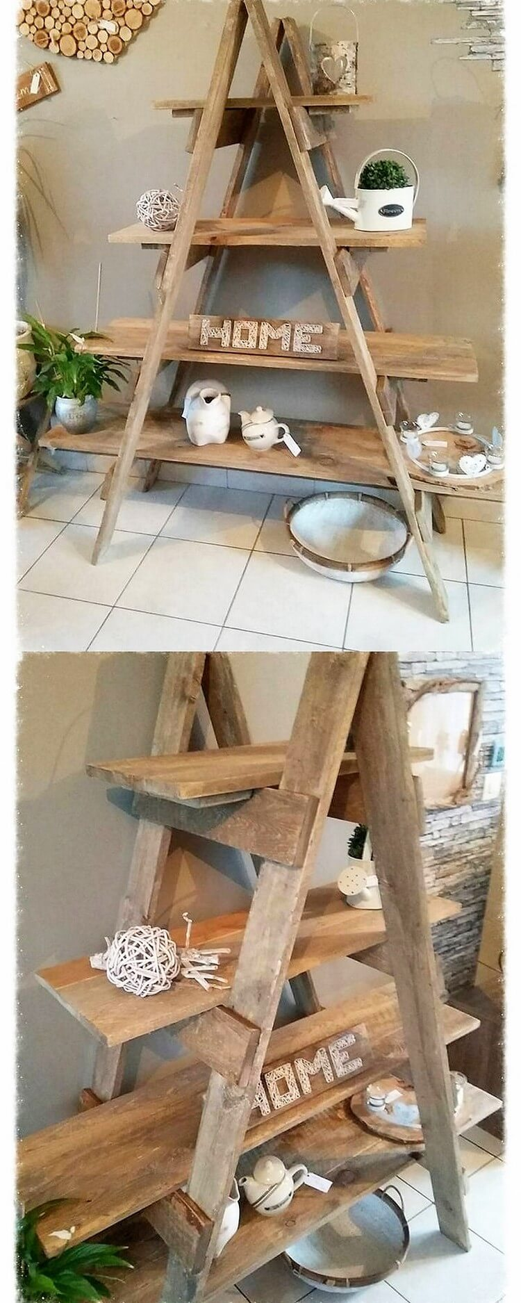 Best diy ideas for reusing old wooden pallets pallet for Old wooden ladder projects