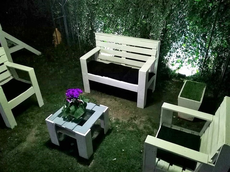 Pallet Made Garden Furniture Set