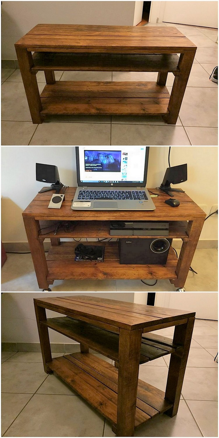Pallet Media Table or Study Table