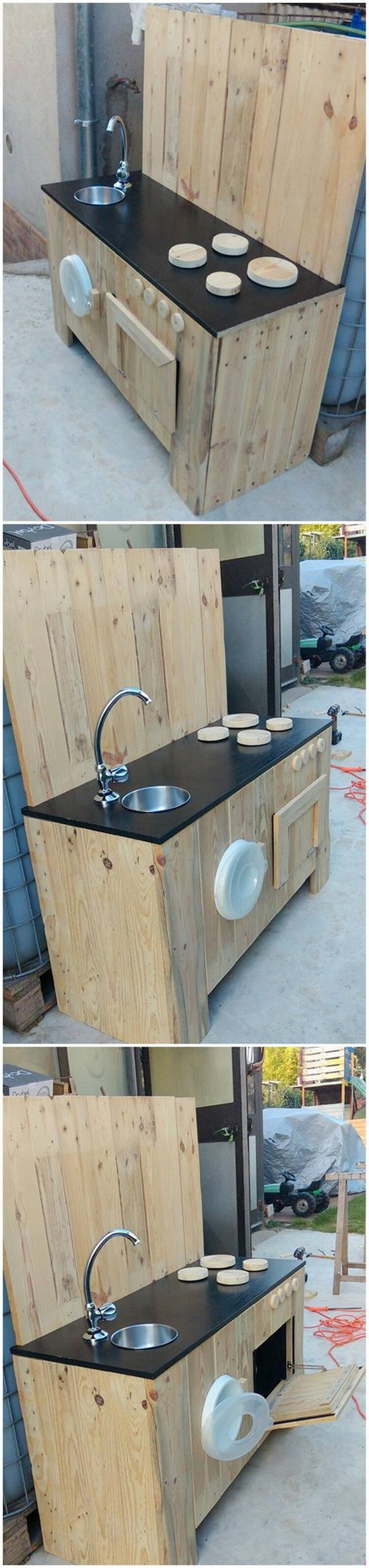 Pallet Mud Kitchen with Sink (2)