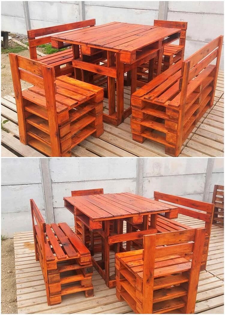 Pallet Outdoor Furniture Set (2)