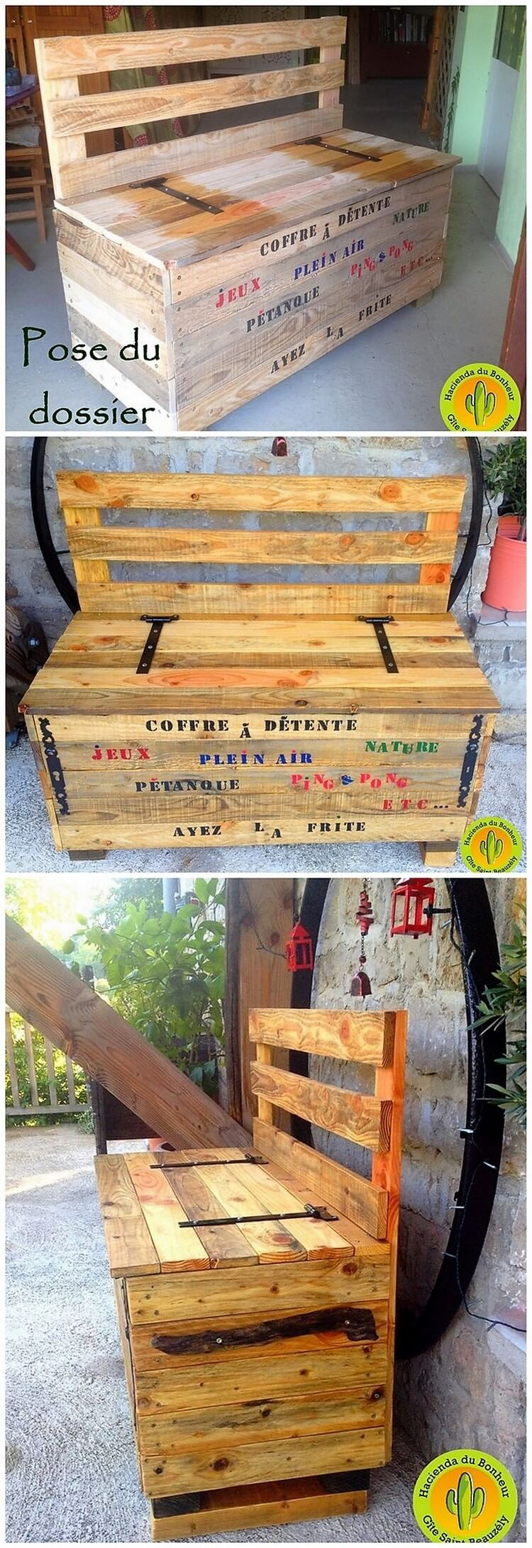 Pallet Seat with Storage Box