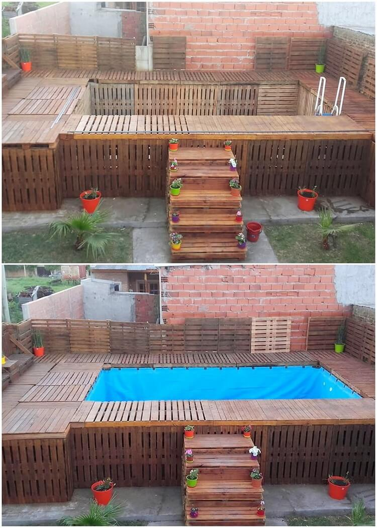 Pallet Swimming Pool (2)
