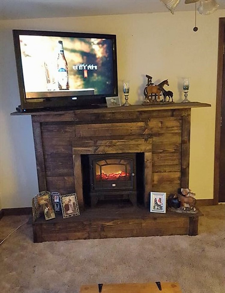 Creative diy shipping wood pallets repurposing ideas for How to make tv cabinet