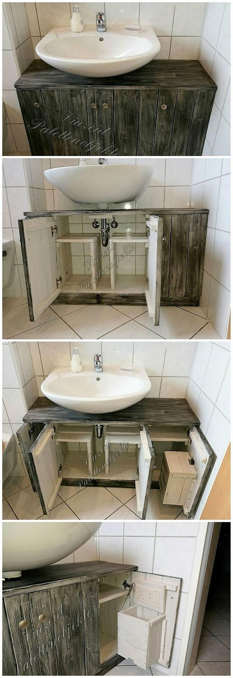 Pallet Toilet Sink Idea