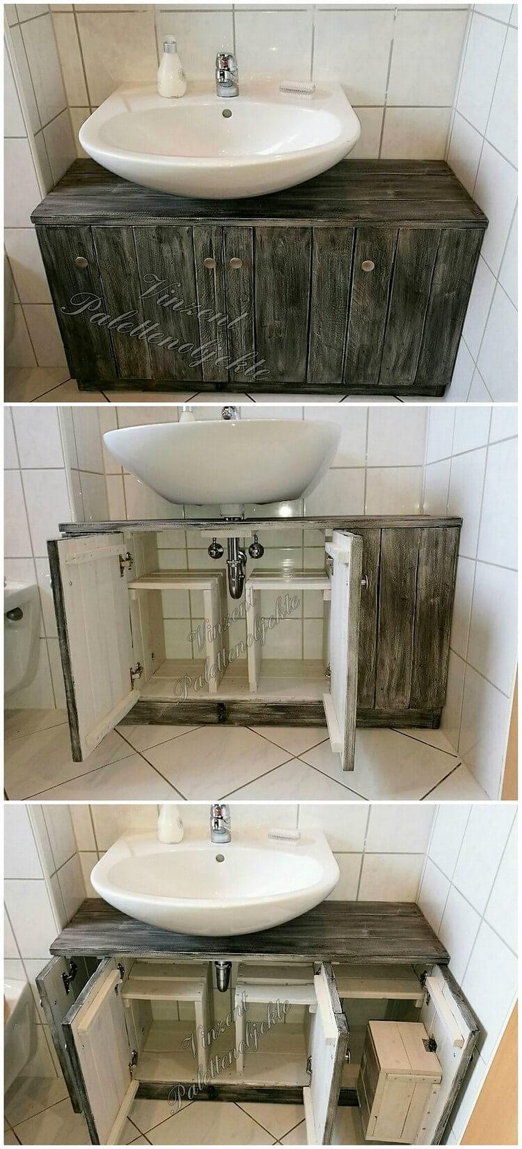Pallet Toilet Sink Plan