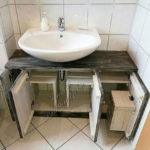 Pallet Toilet Sink with Storage