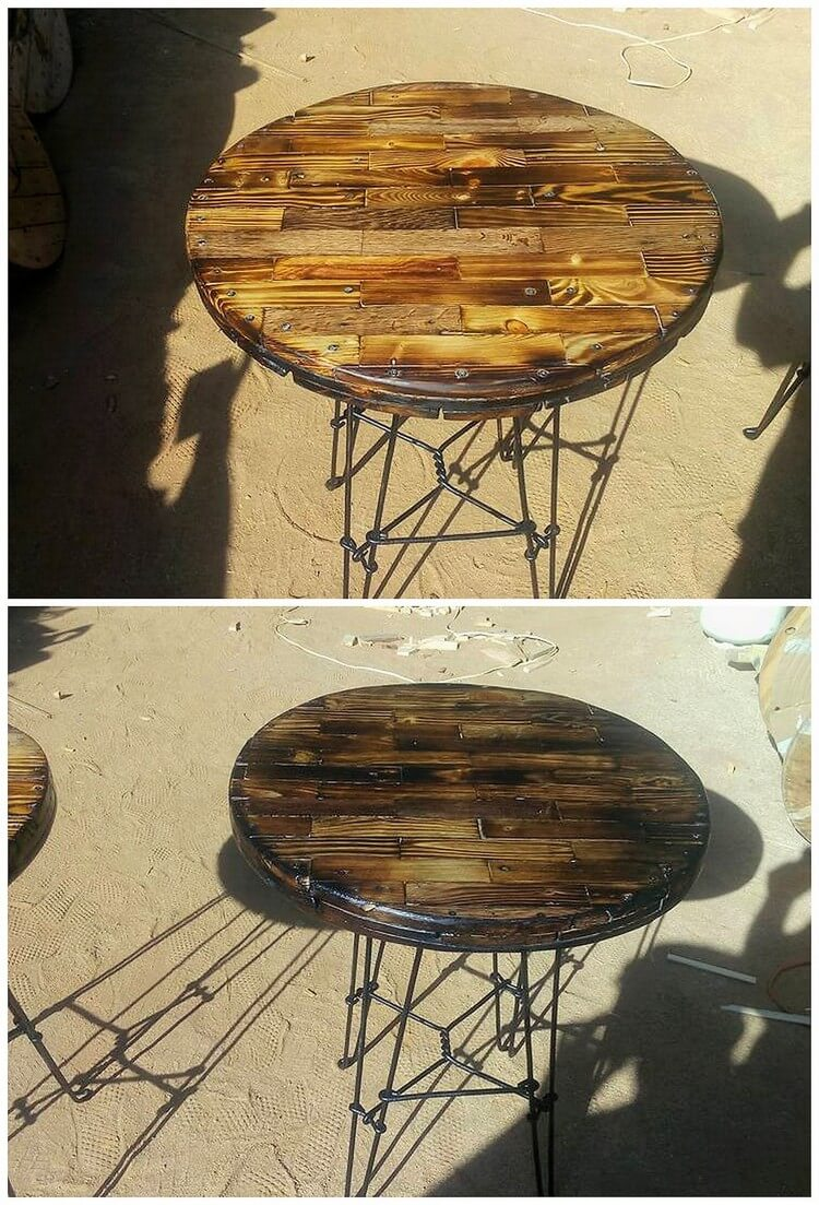 Recycled Pallet Round Table