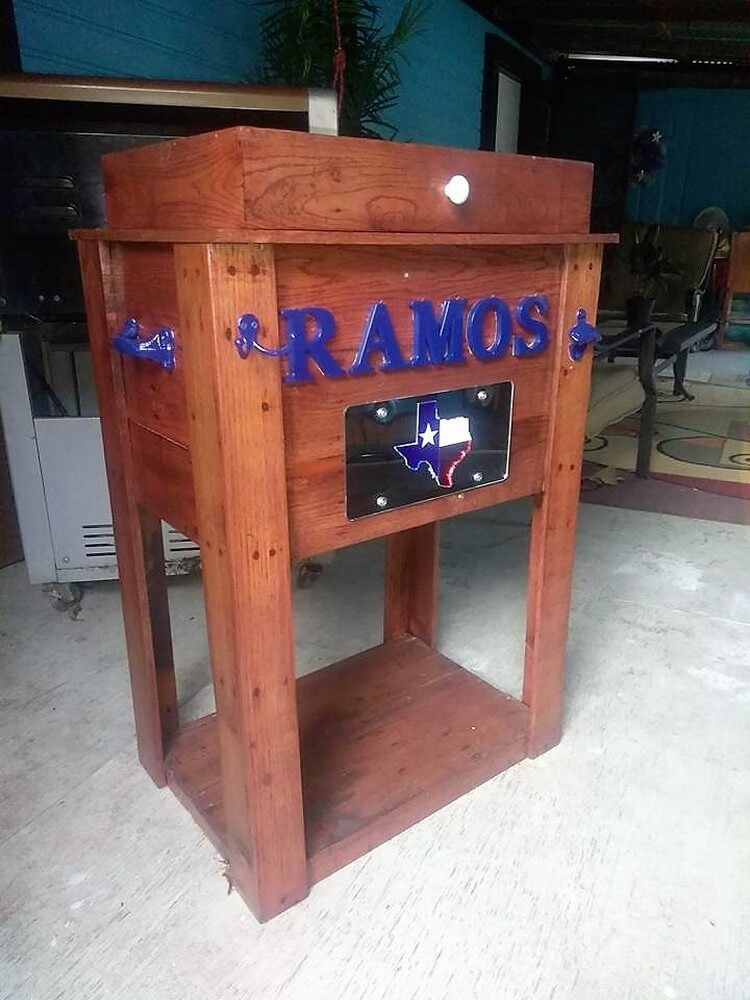 Recycled Pallet Water Cooler