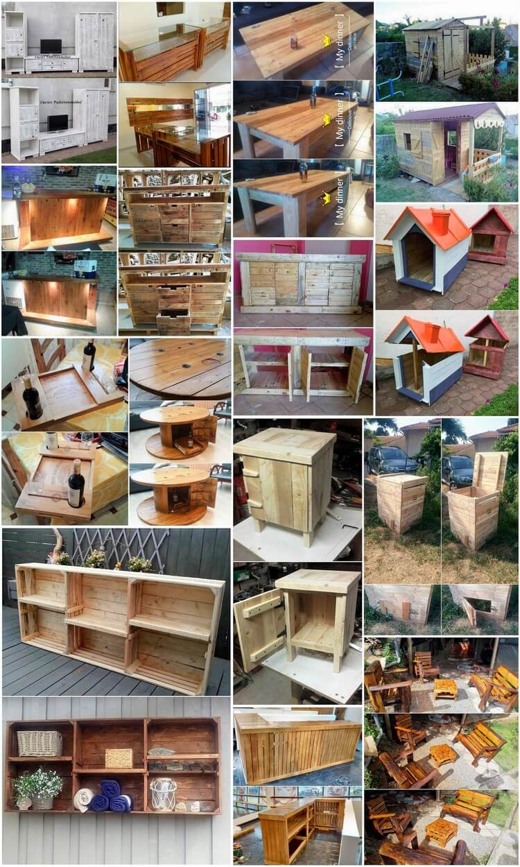 Reused Shipping Wood Pallet DIY Ideas for Your House