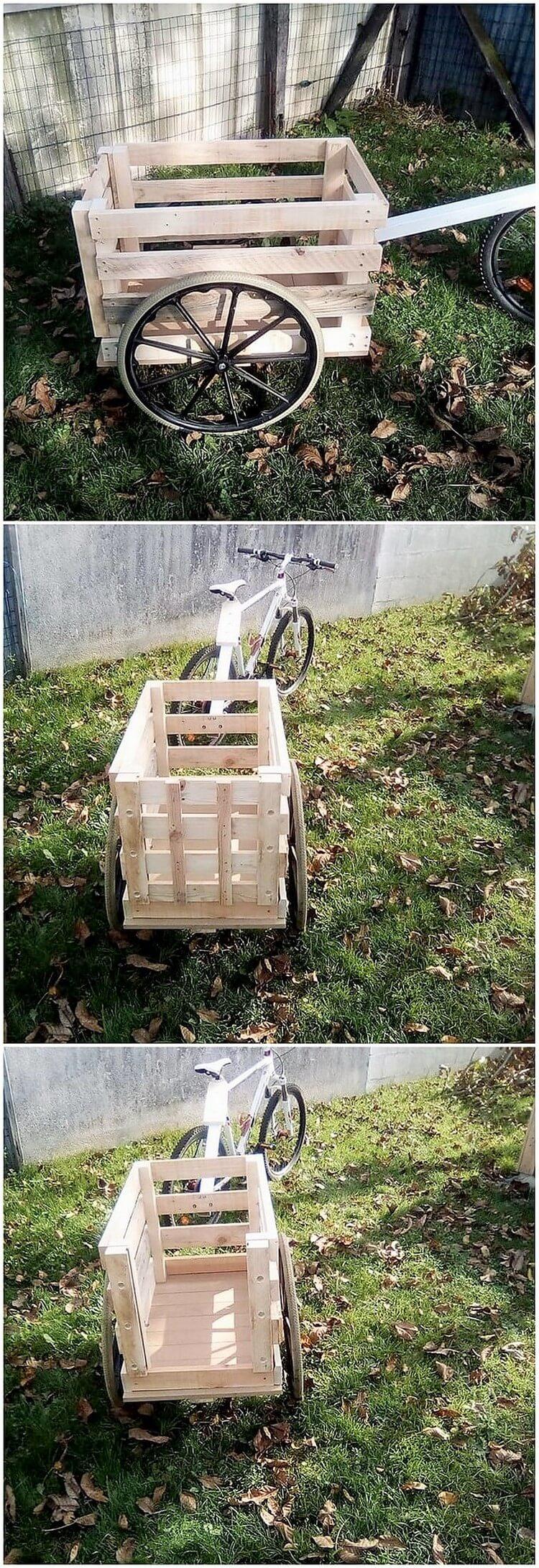 Wood Pallet Cart