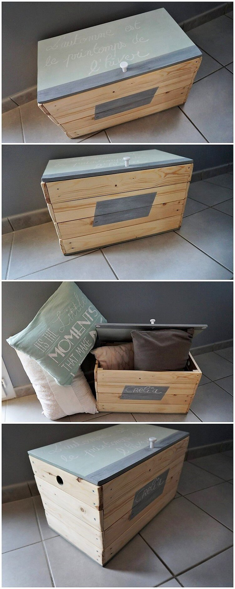 Useful recycling ideas to make with wood pallets pallet for Pallet wood storage box
