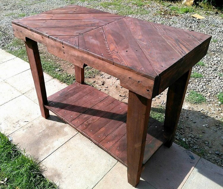 Wood Pallets Made Table